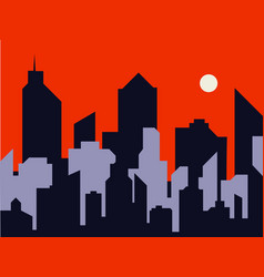 silhouette of a city vector image vector image