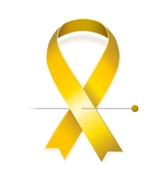 Childhood cancer awareness vector image
