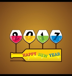 Creative happy New Year 2017 Greeting design vector image