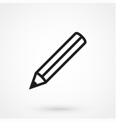 pencil icon black on white background vector image