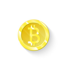 bitcoin business logo icon is isolated the symbol vector image