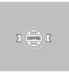 Coffee label computer symbol vector image