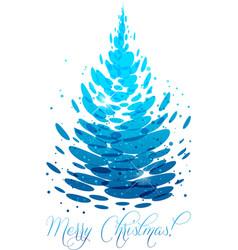 water christmas tree vector image vector image