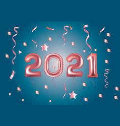 2021 pink foil balloon vector