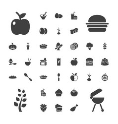 37 nutrition icons vector