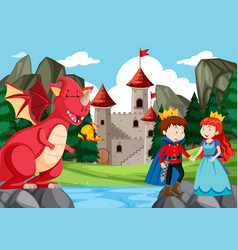 a fantasy story background vector image