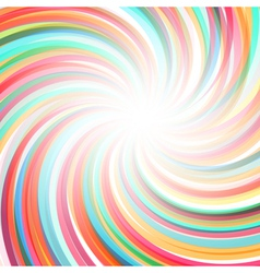 Abstract twisted rainbow background vector image