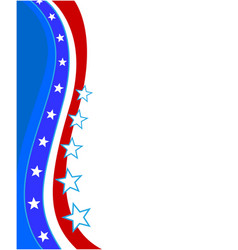 abstract united states flag stars wave frame vector image