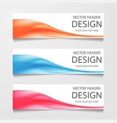 abstract web banner design template collection of vector image