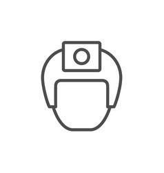 Action camera helmet line icon vector