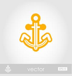 Anchor outline icon summer marine vector