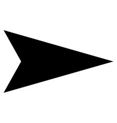 Arrowhead Right Flat Icon vector