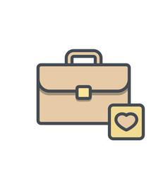 bag briefcase business favorites portfolio vector image