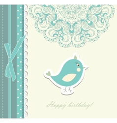 Beautiful card with bird vector image vector image