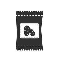 black icon on white background potato seeds vector image