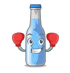 Boxing soda water and ice cubes cartoon vector