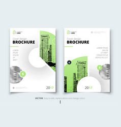 brochure design corporate business report cover vector image