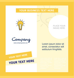 bulb company brochure template busienss template vector image
