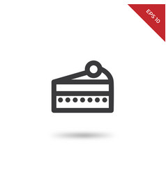 cake slice icon vector image