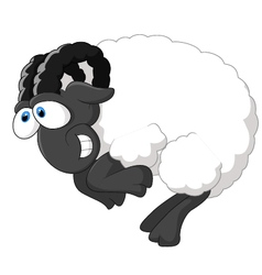 Cartoon happy sheep vector