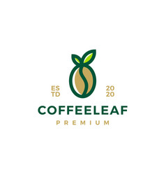coffee leaf logo icon vector image