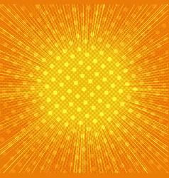 Comic page bright orange explosive background vector