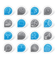 Computer mobile phone and Internet icons vector image