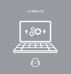 computer transfer settings icon vector image