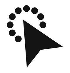 cursor modern click icon simple black style vector image