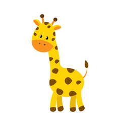 cute cartoon giraffe isolated vector image