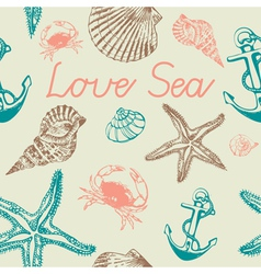 Decorative sea pattern vector