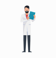 doctor with folder icon vector image