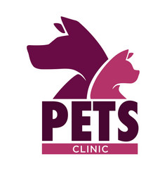 Dog and cat vet clinic pets health isolated icon vector