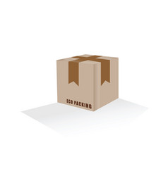 Eco packing box vector