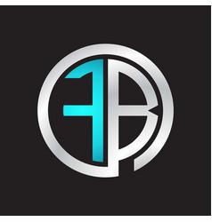 Fb initial logo linked circle monogram vector