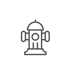 fire hydrant line outline icon vector image