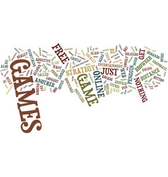Free online games text background word cloud vector