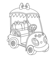 Golf buggy golf car vector