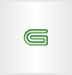 Green g letter symbol vector