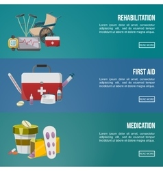 Health Facilities Banner Set vector image