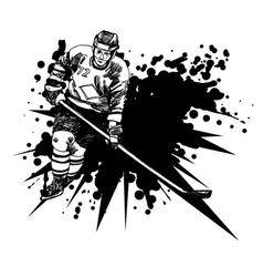 Hockey player1 vector