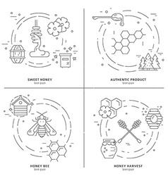 Honey Line Set vector image