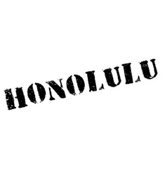 Honolulu stamp rubber grunge vector image