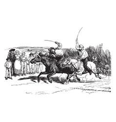 Horse racing vintage vector