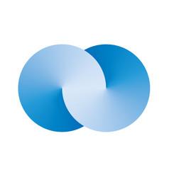 Infinity interlaced circles vector