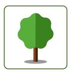 Maple tree icon Flat design vector