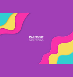 modern paper cut cover template vector image