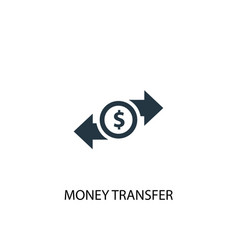 Money transfer icon simple element vector