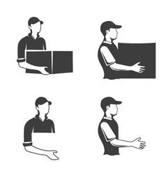 monochrome logo of a postman or longshoreman vector image