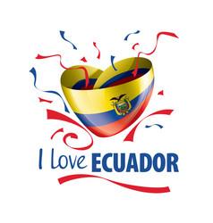 National flag ecuador in shape vector